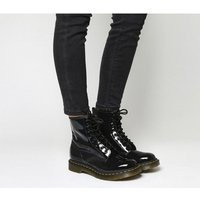 shop for Dr. Martens 8 Eyelet Lace Up Boots BLACK PATENT at Shopo