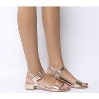 shop for Office Morgan Block Heel Sandal ROSE GOLD at Shopo
