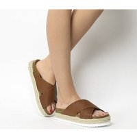 Office Mexico Cross Strap Footbed TAN LEATHER