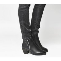 shop for Office Anita Side Zip Western Mid Boot BLACK at Shopo