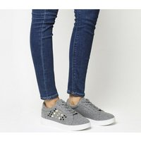 Office Cookie Embellished Lace Up Trainer GREY
