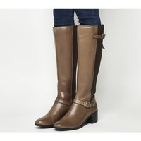 Office Kestrel- Mid Heel Riding Boot TAN LEATHER
