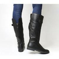 Office Kilter Casual Knee Boots BLACK LEATHER