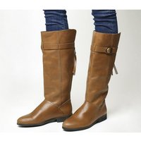 Office Kilter- Back Zip Casual Boot TAN LEATHER