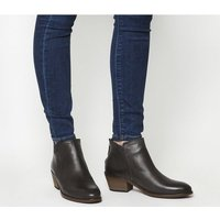 Office Aiden- Back Zip Boot CHOC LEATHER