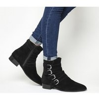 Vagabond Gigi Strap Boot BLACK SUEDE