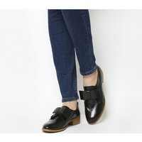 Office Flexa Slip On With Bow BLACK GROUCHO LEATHER