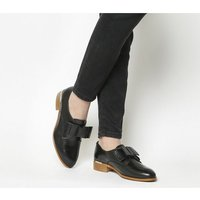 Office Flexa Slip On With Bow BLACK WITH GOLD HEEL