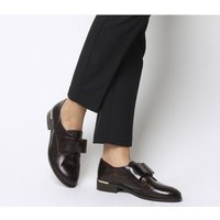 Office Flexa Slip On With Bow BURGUNDY GROUCHO LEATHER WITH HEEL CLIP
