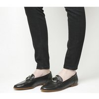 Office Flavia Ring Detail Loafer BLACK LEATHER