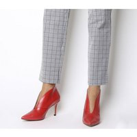 Office Me Too V Front Shoe Boot RED GROUCHO