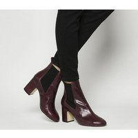 Office Acapella- Chelsea Boot BURGUNDY LEATHER