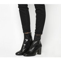 Office Admire- Cylindrical Heel BLACK LEATHER