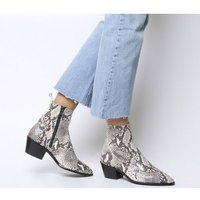 shop for Office Auburn- High Cut Unlined Boot NATURAL SNAKE LEATHER at Shopo
