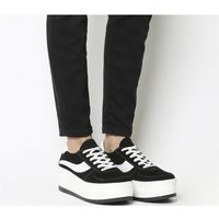 Office Fall Out Flatform Trainer BLACK SUEDE