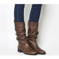 Office Knoxville- Ruched Calf Boot BROWN LEATHER