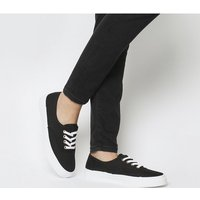 Office Flight Lace Up BLACK CANVAS