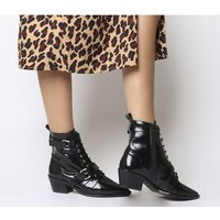 Office Ambassador Lace Up Boots BLACK LEATHER