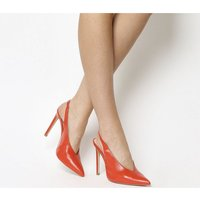 Office Hix V Cut Slingback Point Court BRIGHT RED LEATHER