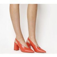 Office Mimi Chunky Slingback RED LEATHER