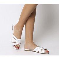 Office Saffron- Mule Sandal WHITE LEATHER