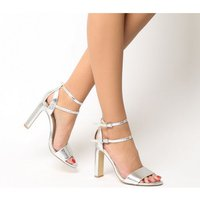 Office Hypnotize Heel With Ankle Strap SILVER