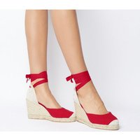 Office Marmalade Part Espadrille NEW RED CANVAS