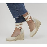Office Marmalade Espadrille Wedges NATURAL CANVAS