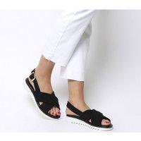 Office Stellar- Sporty Cross Strap Sandal BLACK SUEDE