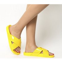Office Splash- Cross Strap Colour Drench Slide YELLOW