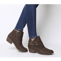 Blowfish Malibu Sistee Double Buckle Ankle Boot TOBACCO RUSTIC