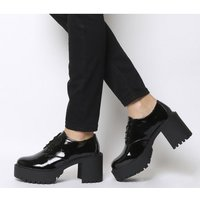 Office Mammoth Chunky Lace Up BLACK PATENT
