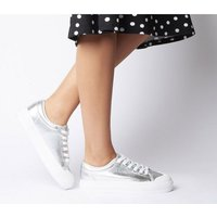 Office Fro Yo Chunky Sole Lace Up SILVER
