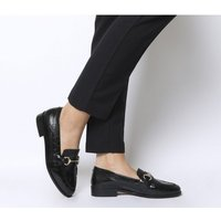 Office Fluster Loafer BLACK CROC LEATHER