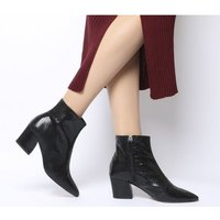 shop for Office Aubergine- Curved Heel Ankle Boot BLACK SNAKE LEATHER at Shopo