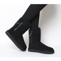 UGG Classic Short Sparkle Zip Exclusive BLACK