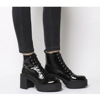 shop for Office Animal- Chunky Lace Up Boot BLACK PATENT at Shopo