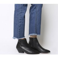 Office Atone- Western Block Heel Boot BLACK LEATHER BLACK HEEL
