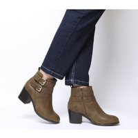 Office Author- Double Buckle Boot TAN GOLD BUCKLES