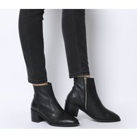 Office Alford- Unlined Block Heel Boot BLACK LEATHER