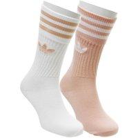 adidas Crew Sock 2 Pair DUST PINK WHITE STRIPE
