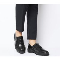 Office Frenchie Lace Up BLACK BOX LEATHER