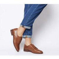 Office Fear Vintage Lace Up TAN LEATHER