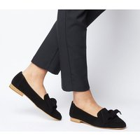 Office Foal Softy Bow Loafer BLACK SUEDE