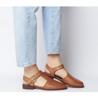 Office Filter Cut Out Loafer TAN LEATHER