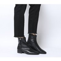 Office Adore- Side Zip Casual Boot BLACK LEATHER