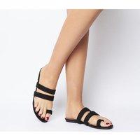Office O-selfie- Toe Loop Sandal BLACK