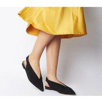Office France Fashion Sling Back BLACK SUEDE