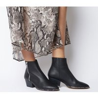 Office Altered- Western Zip Boot BLACK LEATHER SNAKE RAND