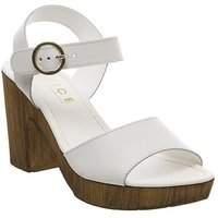 Office Mariel Block Sandal WHITE LEATHER
